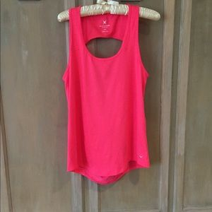 Express Exp Core M Pink Work Out Tank Back Cut Out